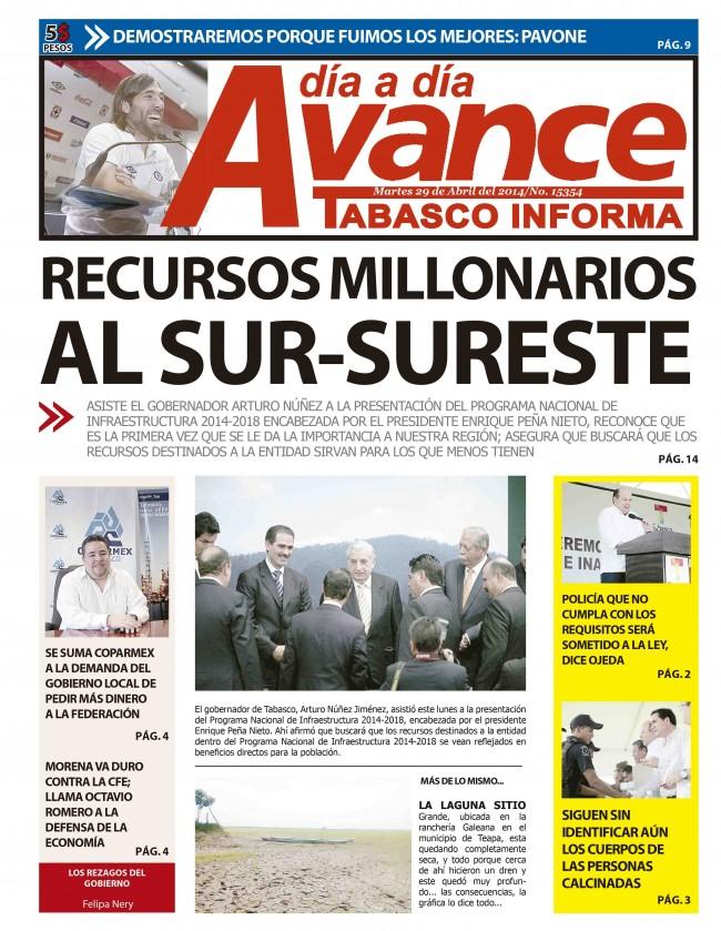 Edición Impresa 29 de Abril del 2014