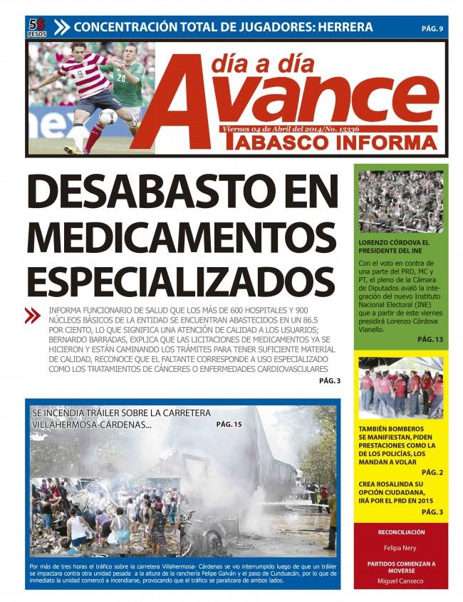 Edición Impresa 4 de Abril del 2014