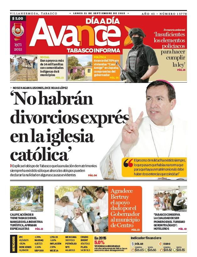 Edición impresa del 21 de septiembre del 2015