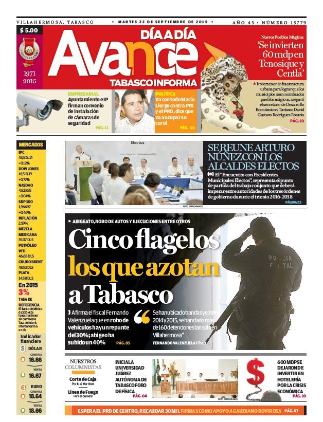 Edición impresa del 22 de septiembre del 2015