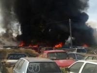 Controlan incendio en corralón de Veracruz