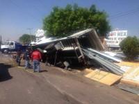 Trágico accidente, un muerto y siete heridos