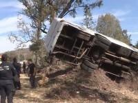 Choca camión con 20 custodios de la SSP