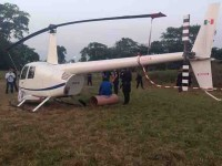 Aterriza de emergencia helicóptero en el Country