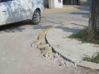 Obras de pésima calidad en Jalupa