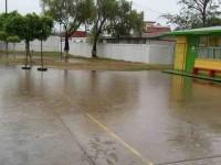 Atiende SE a las escuelas afectadas por la tormenta