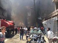 Bombardean mercado