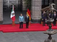 Recibe Peña Nieto Angela Merkel en Palacio Nacional