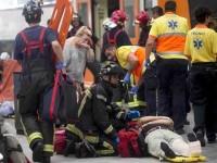 Choque de tren deja 56 heridos, en Barcelona