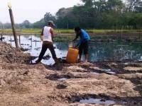 Impiden labores de limpieza por derrame de crudos