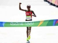 Campeona olímpica de  maratón, suspendida  cuatro años por dopaje