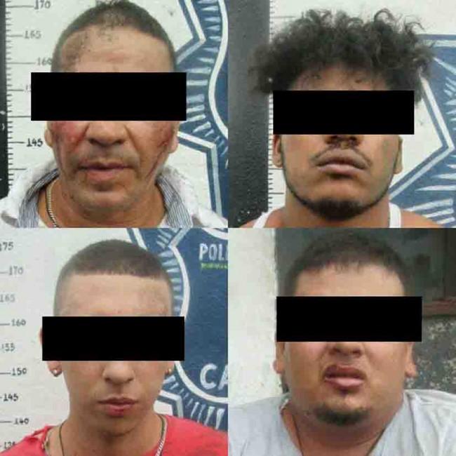 Detienen a cuatro colombianos por agresiones contra policías