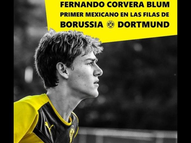 Jugador mexicano ficha  con el Borussia Dortmund