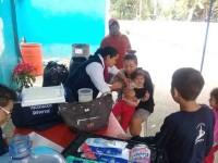 Atiende Salud a los afectados por las lluvias