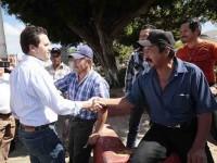 En unidad reciben a  Gerardo Gaudiano  perredistas de Zapata
