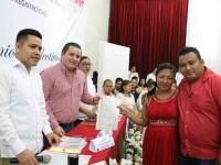 Celebran matrimonios colectivos por lo civil