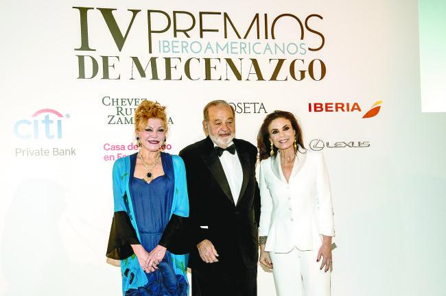 Carlos Slim y la Baronesa Thyssen, reconocidos por los IV Premios Iberoamericanos de Mecenazgo