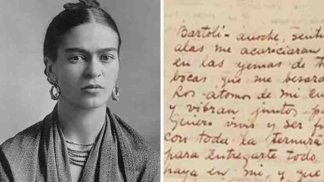 """""""Las cartas de Frida"""" evocan miedos y pasiones de la pintora mexicana"""