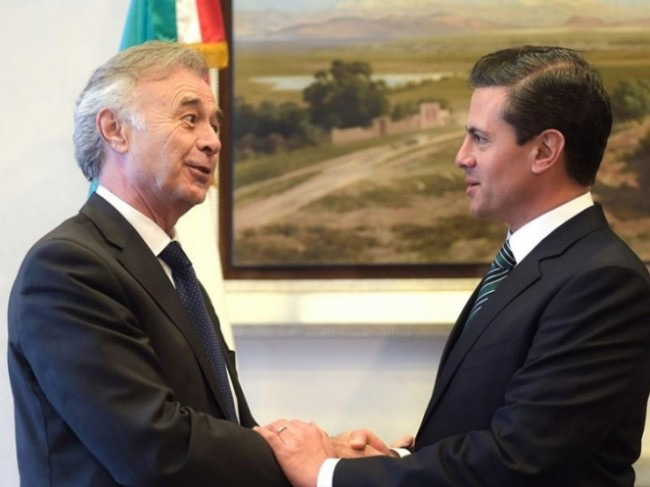 Recibe Peña al director  general de Grupo Safran