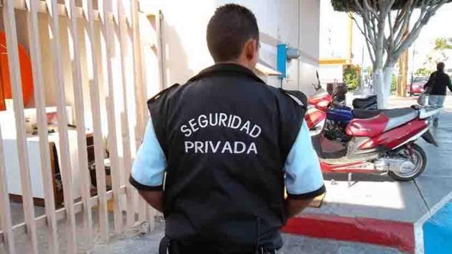 Disminuye contratación de vigilancia privada
