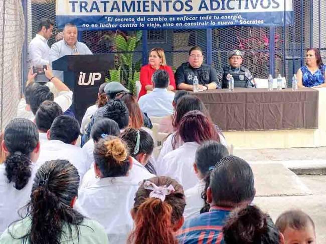 Inician 11 jóvenes del  Tutelar tratamiento contra las adicciones