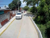 Inauguran pavimentación  de una calle en Gaviotas