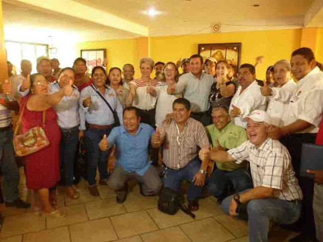 Respaldan cetemistas a Yánez Burelo del PRI