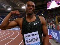 Baker triunfa en los 100m de Roma