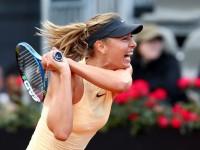 Sufrido avance de Sharapova en Roma
