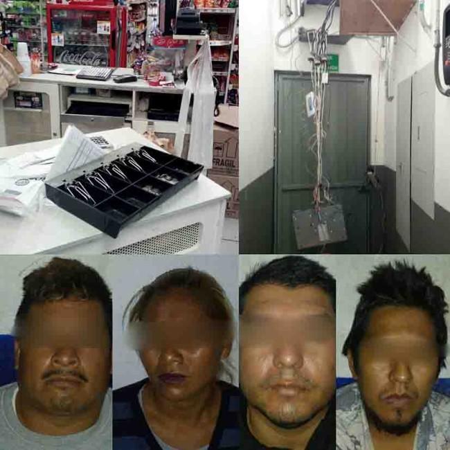 Cae banda dedicada al robo  de tiendas de conveniencia