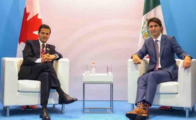 Peña Nieto y Trudeau  hablan sobre TLCAN,  informa Presidencia
