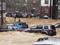Inundaciones sorprenden a Maryland