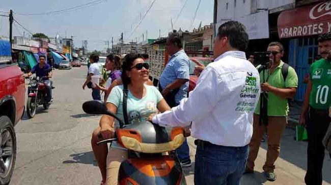 Convoca Cantón a votar por  todos los candidatos del Verde