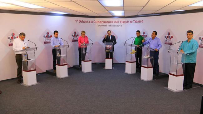 Candidatos a debatir