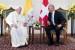 El papa se reúne con presidente de Suiza