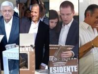 Votan presidenciables