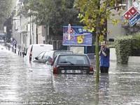 Francia sufre por las lluvias