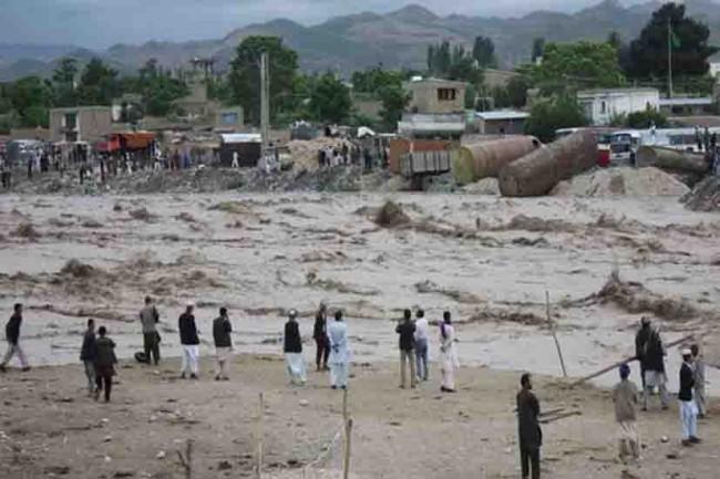 Inundación al norte de Afganistán