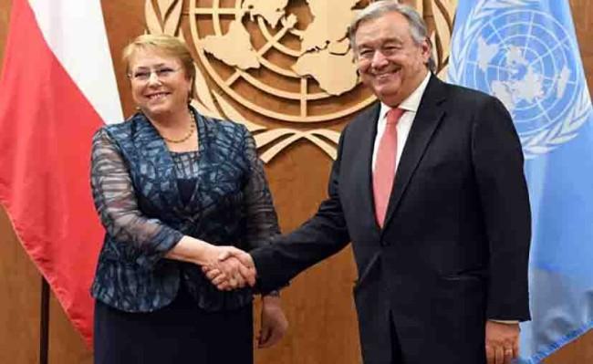 Celebran el nombramiento de Bachelet en la ONU-DH