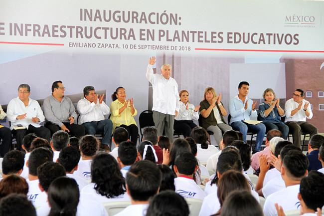 Entrega Núñez obras por 54.8 mdp en Emiliano Zapata