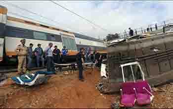 Descarrilamiento mortal de tren en Marruecos