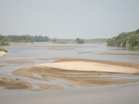 Estiaje anticipado  en el río Carrizal