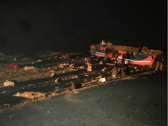 Accidente de autobús en Chile