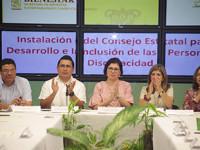 Instalan Consejo Estatal para el Desarrollo e inclusión de las Personas con Discapacidad