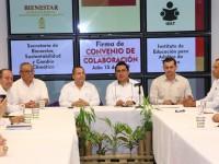 Alianza por sustentabilidad ambiental de Tabasco, pactan Bienestar e IEAT