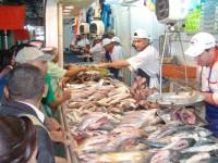 Caen las ventas de pescados y mariscos
