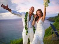"""""""La Roca"""" y Lauren se casaron"""