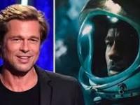 Brad Pitt platica con  astronauta de la NASA