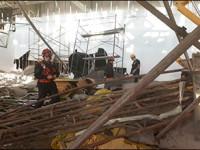 Derrumbe en aeropuerto de Argentina