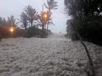Magallanes, inundado  de espuma marina